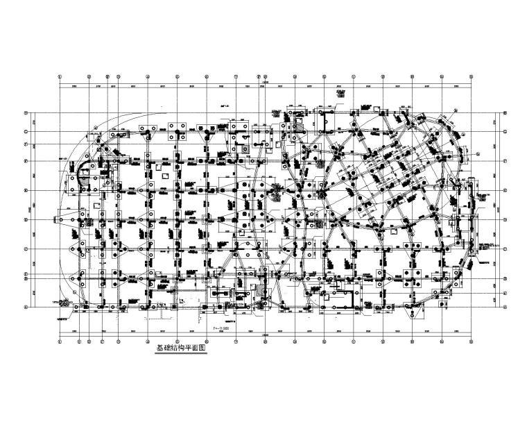 框剪结构科技与规划馆建筑结构施工图