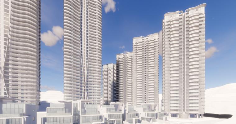 [广东]珠海华发绿洋湾滨海豪宅建筑模型设计(现代风格)-现代风格滨海豪宅 (23)