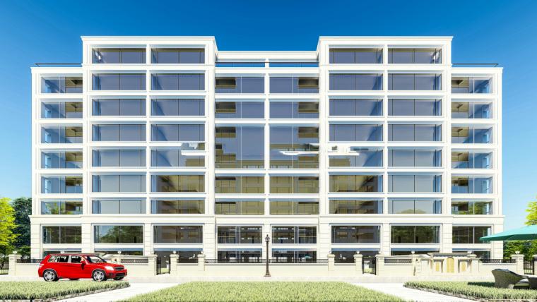 洋房+小高层建筑模型设计(欧陆风格)