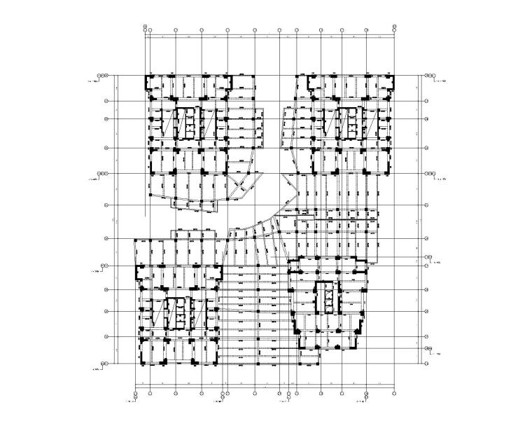 DK2-2商业二层结构平面布置图