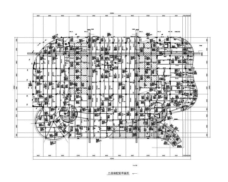 8层框剪结构泉州图书馆建筑结构施工图(2016)