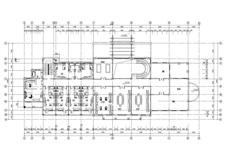 [山西]某居住区阁楼会所建筑施工图-06二层平面图