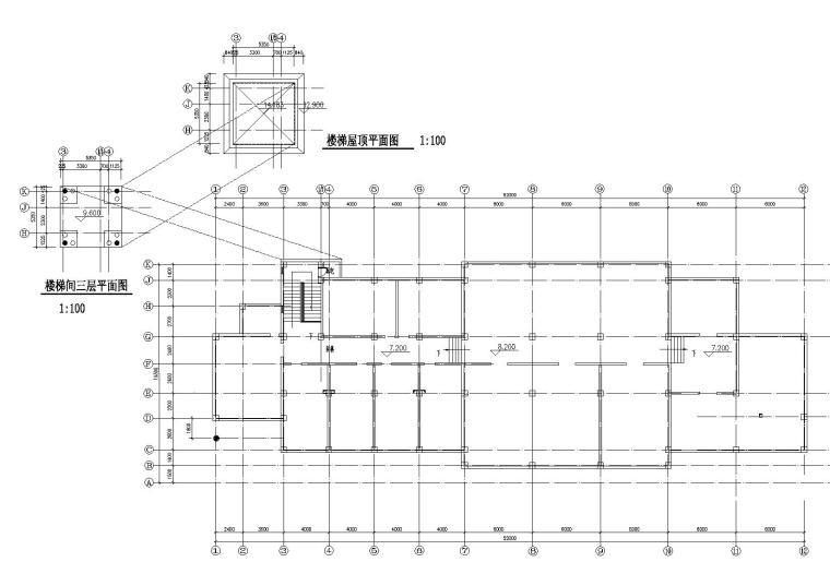 [山西]某居住区阁楼会所建筑施工图-07阁楼平面图