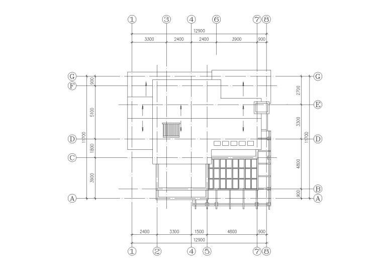 [江苏]连云港村镇月湾别墅建筑方案图-08屋顶平面图