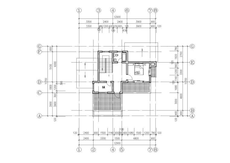 [江苏]连云港村镇月湾别墅建筑方案图-07三层平面图