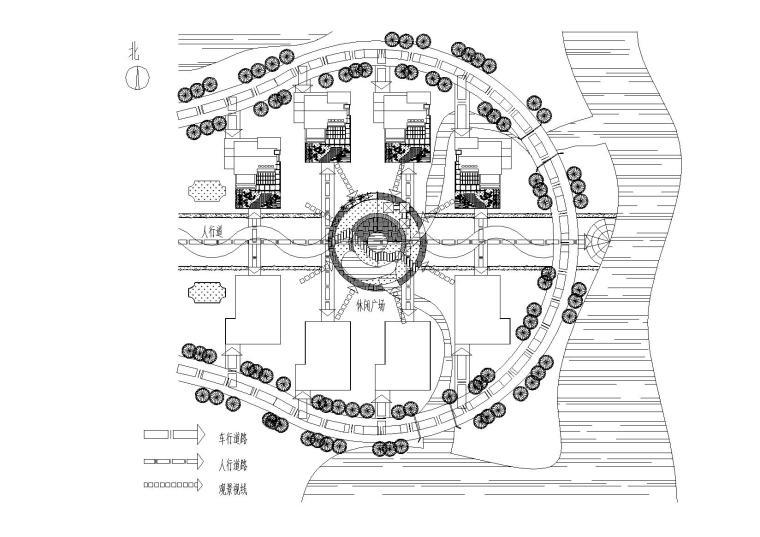 [江苏]连云港村镇月湾别墅建筑方案图-04总平面图