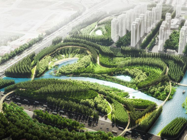 上海三林生态谷-3.SANLIN_Water-Valley-Aerial_web