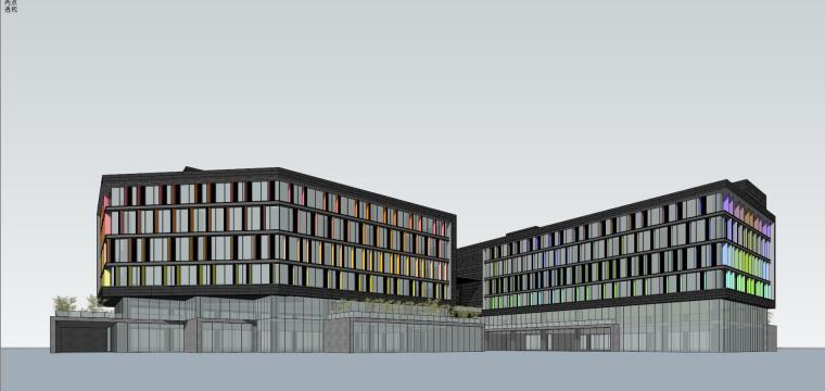 现代风格创意办公单体建筑模型设计-创意办公 单体 (1)