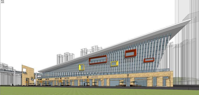 现代风格商业广场建筑模型设计-商业广场方案 (3)