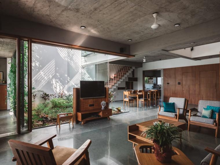 印度Jungalow的简约住宅