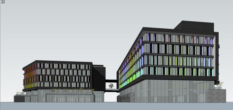 现代风格创意办公单体建筑模型设计-创意办公 单体 (3)