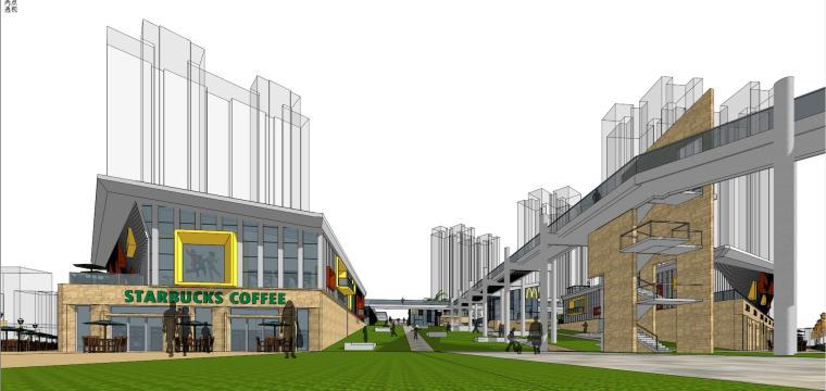 现代风格商业广场建筑模型设计-商业广场方案 (4)