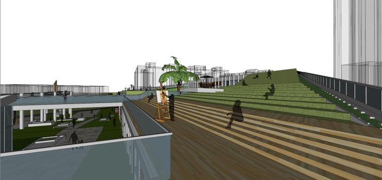 现代风格商业广场建筑模型设计-商业广场方案 (8)