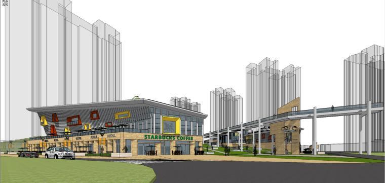 现代风格商业广场建筑模型设计-商业广场方案 (7)