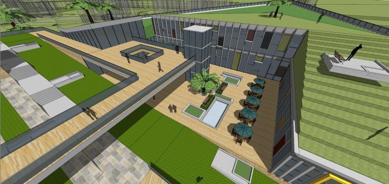 现代风格商业广场建筑模型设计-商业广场方案 (9)