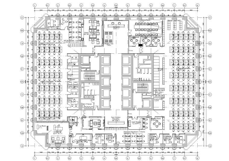 [广东]博夏设计院-广州摩拉贸易有限公司办公室施工图+效果图