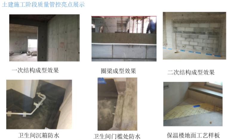 土建施工阶段质量管控亮点展示