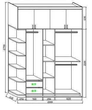 定制衣柜的详细图解,再也不用担心东西放不_6