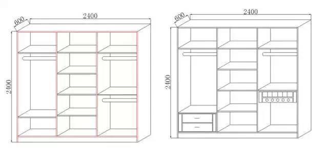 定制衣柜的详细图解,再也不用担心东西放不_1