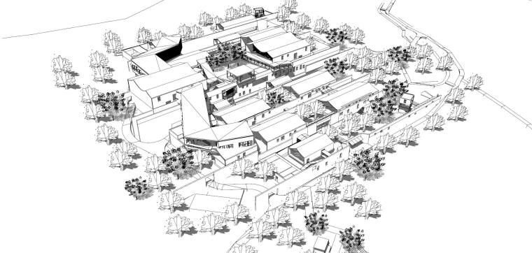 宁海十里红妆博物馆建筑模型设计-中式风格