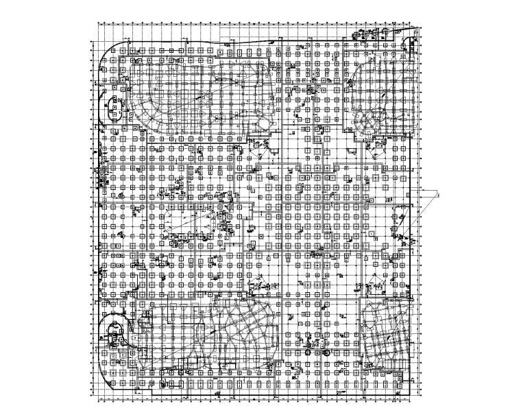 地下2层文化广场(商业配套)建筑结构图