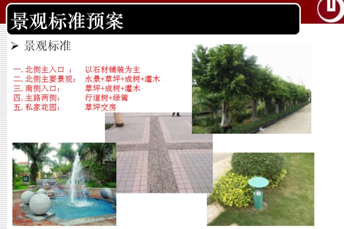 景观标准预案