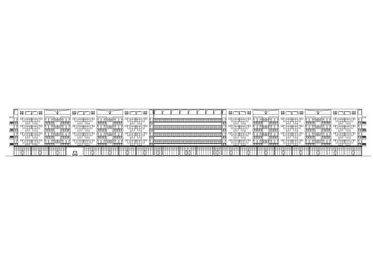 [广东]L型宿舍楼建筑施工图(含效果图)