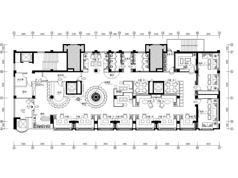 """青海西宁""""悦""""酒廊酒吧室内装修CAD施工图"""