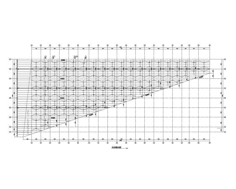 [江西]单层钢桁架农贸市场结构施工图