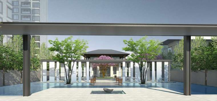 阳光城居住区建筑模型设计(新中式风格)-阳光城·杨浦区平凉社区地块投标 天华 (2)