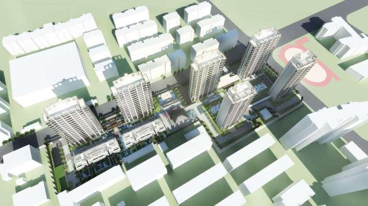 阳光城居住区建筑模型设计(新中式风格)