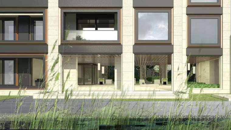 阳光城居住区建筑模型设计(新中式风格)-阳光城·杨浦区平凉社区地块投标 天华 (5)