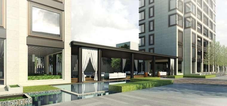 阳光城居住区建筑模型设计(新中式风格)-阳光城·杨浦区平凉社区地块投标 天华 (4)
