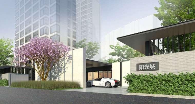 阳光城居住区建筑模型设计(新中式风格)-阳光城·杨浦区平凉社区地块投标 天华 (3)