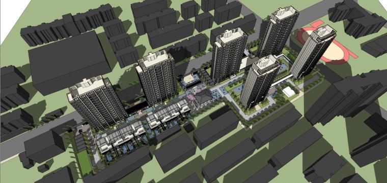 阳光城居住区建筑模型设计(新中式风格)-阳光城·杨浦区平凉社区地块投标 天华 (7)