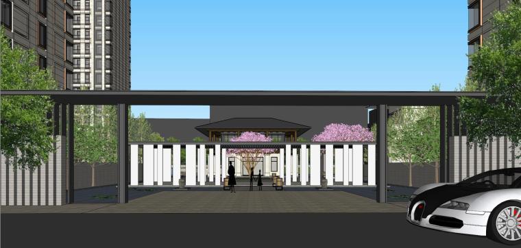 阳光城居住区建筑模型设计(新中式风格)-阳光城·杨浦区平凉社区地块投标 天华 (8)