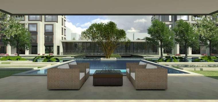 阳光城居住区建筑模型设计(新中式风格)-阳光城·杨浦区平凉社区地块投标 天华 (6)