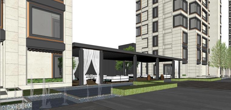 阳光城居住区建筑模型设计(新中式风格)-阳光城·杨浦区平凉社区地块投标 天华 (10)