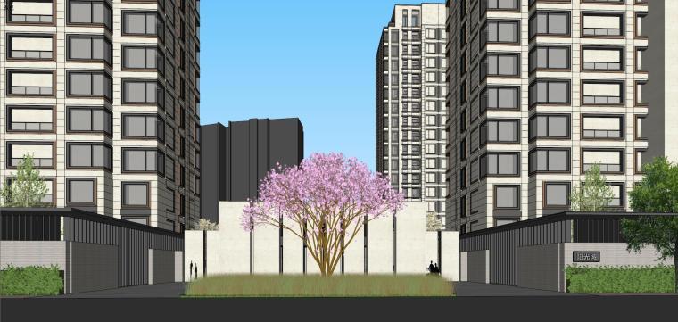 阳光城居住区建筑模型设计(新中式风格)-阳光城·杨浦区平凉社区地块投标 天华 (12)