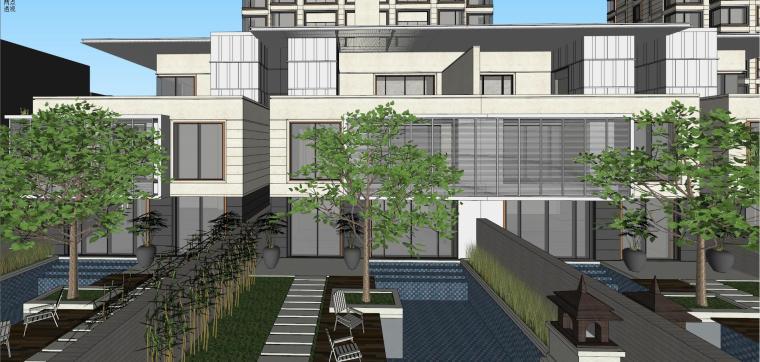 阳光城居住区建筑模型设计(新中式风格)-阳光城·杨浦区平凉社区地块投标 天华 (11)