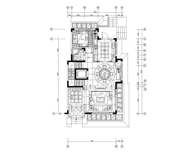 南京郦城联排别墅样板房施工图+方案+效果图