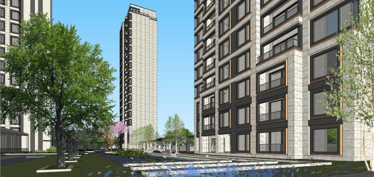 阳光城居住区建筑模型设计(新中式风格)-阳光城·杨浦区平凉社区地块投标 天华 (16)