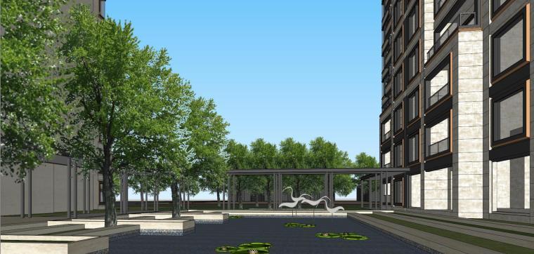 阳光城居住区建筑模型设计(新中式风格)-阳光城·杨浦区平凉社区地块投标 天华 (13)
