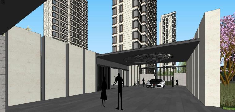 阳光城居住区建筑模型设计(新中式风格)-阳光城·杨浦区平凉社区地块投标 天华 (14)