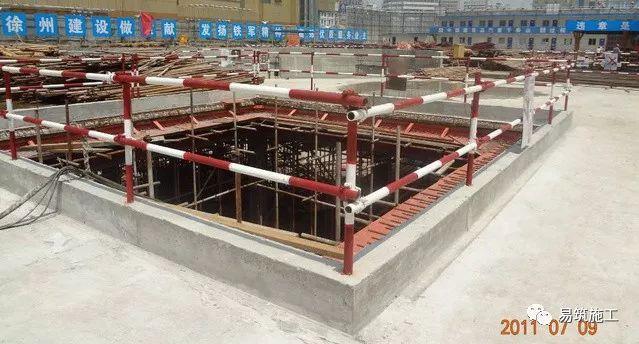 超高层建筑22米深基坑逆作法施工现场,看基础如何倒过来施工_3