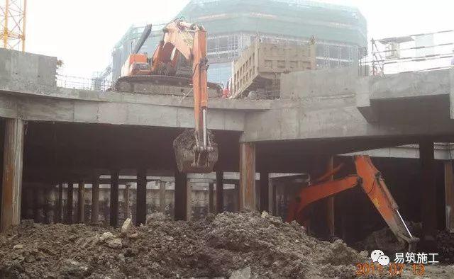 超高层建筑22米深基坑逆作法施工现场,看基础如何倒过来施工_11