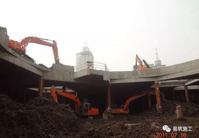 超高层建筑22米深基坑逆作法施工现场,看基础如何倒过来施工_10