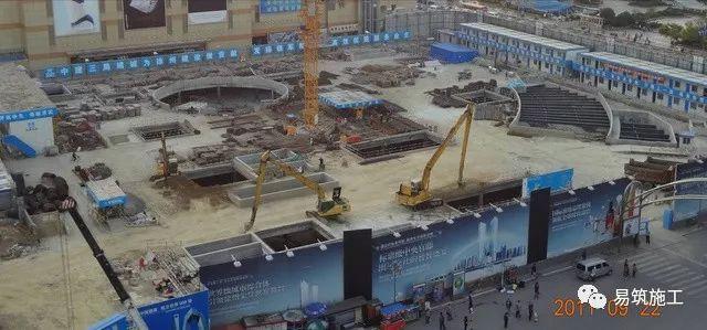 超高层建筑22米深基坑逆作法施工现场,看基础如何倒过来施工_8