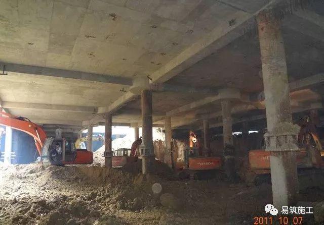 超高层建筑22米深基坑逆作法施工现场,看基础如何倒过来施工_13