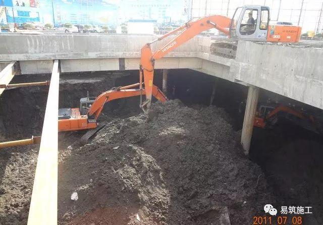 超高层建筑22米深基坑逆作法施工现场,看基础如何倒过来施工_9